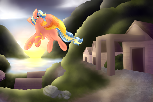 The Village at Sunset - Raffle Prize by ZacharieBee