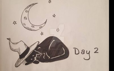 INKTOBER Day 2: Tranquil by MaliceInTheAbyss