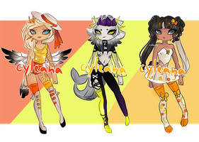 OTA Gleamstic: Yellows and Oranges [CLOSED] by Cyleana
