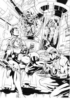 Invisible Woman/Malice - Namor - fantastic Four by ReneMicheletti