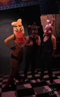 Five Nights With Freddy, Chica and Bonnie Cosplay by MokkaQuill