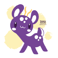 Purple Deer by Daieny