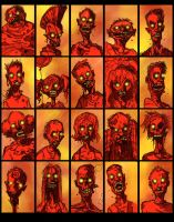 ZOMBIES ZOMBIES ZOMBIES by QuinteroART