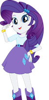Equestria Girls Rarity Vector by icantunloveyou