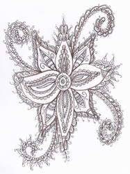 Sepia Flower by WelshPixie