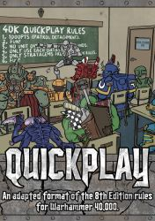 Warhammer 40K quickplay rules cover by MrPicto