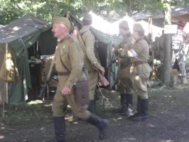 Soviet WW2 re enactors by FFDP-Neko