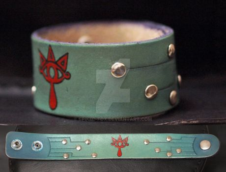 Sheikah leather wristband by Spiked-Fox