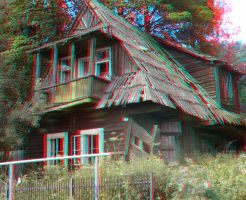 Mountain Cottage 3D Anaglyph by yellowishhaze