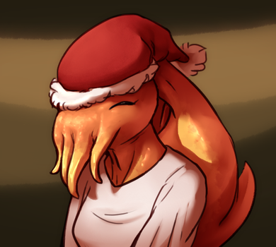 christmas squid by Wolframclaws