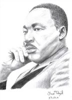 Dr. Martin Luther King by a-rua-is