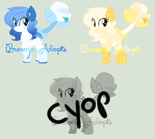 Plant Pony batch - Auction OPEN 3/4 by Brownie-Adopts
