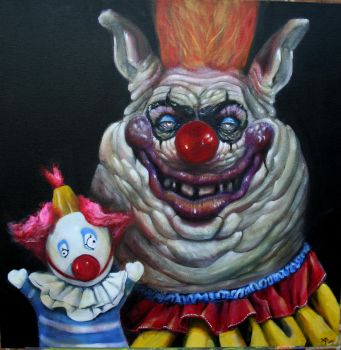 Killer Klown with Puppet by brucethebandit