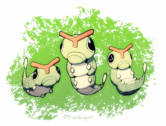 Caterpie by WaffleFoxAlpha