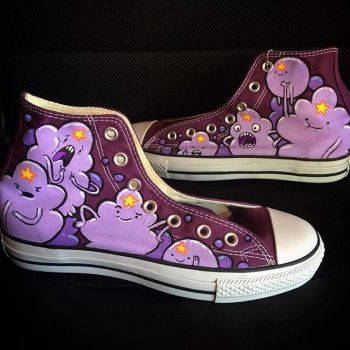 Lumpy Space Princess custom shoes by Beffana
