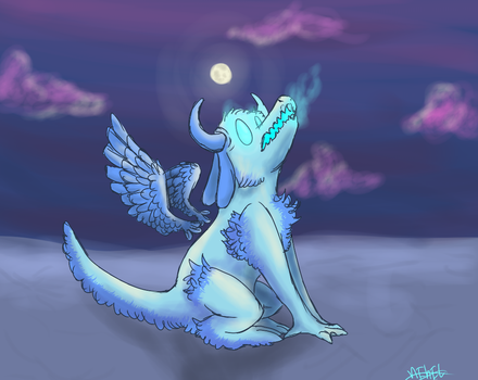 Doggie axolotl dragon bby by Sea-Salt-Child