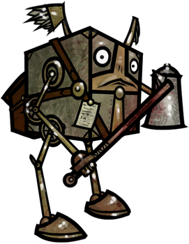 Rogue Modron Bartender-Bouncer by WhoDrewThis