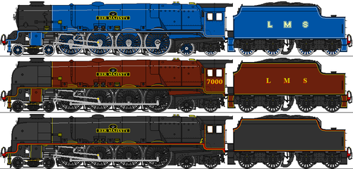 LMS 9P Queen Class by omega-steam