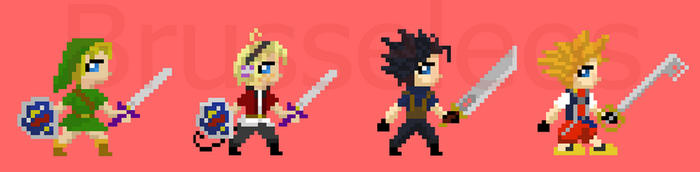 Some More Pixel Bros by brusseleos
