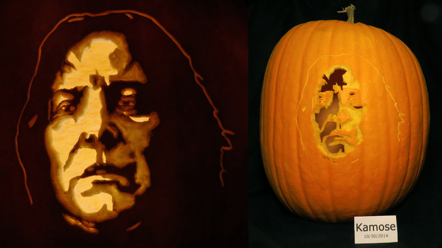 Severus Snape Pumpkin (From Harry Potter) by Kamose