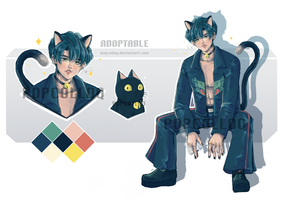 [OPEN ADOPT AUCTION] BLACKCAT by POPCOLLOQ