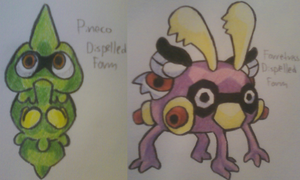 Pineco and Forretress Dispelled Form
