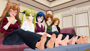 Shoes Off! Lovely Ladies (Barefoot Version) by tehfogo