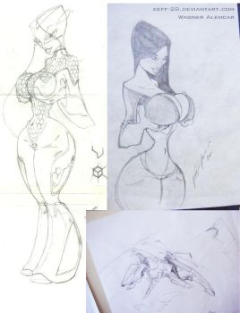 Vez wip sketches by Wagnr