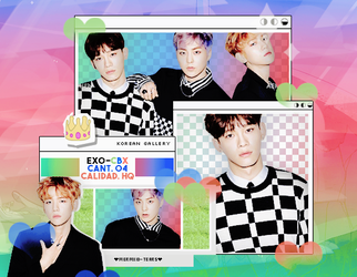 EXO-CBX   PACK PNG by KoreanGallery