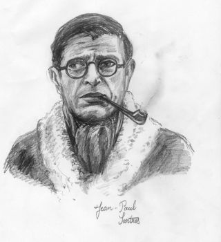 Jean-Paul Sartre by Trisiphone