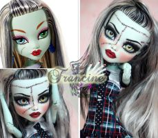 MH 17 inch Frankie repaint #2 ~Francine~ by RogueLively
