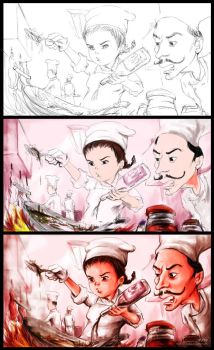 Cooking In Progress by acakadut