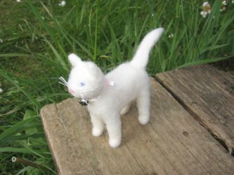 Little White Kitty by Elfs-Toyshop