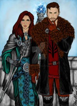 The Templar and his Sister by OurMysticalNonsense