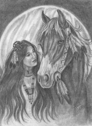 Moon Maiden- Comanche Tribe by HarttoHeart