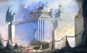 The sky fortress by bungyx
