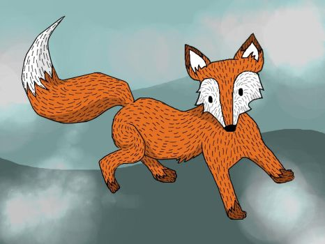 A fox is a wolf who sends flowers by WentToTheMoonToday