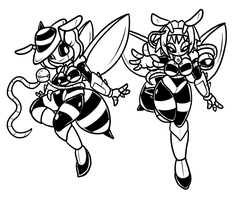 COM Touhou Bee Babes by ChaosCroc