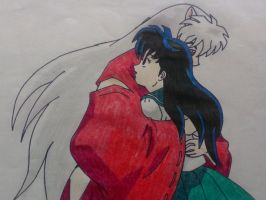 Inuyasha and Kagome 2 by ShadowwolfSera