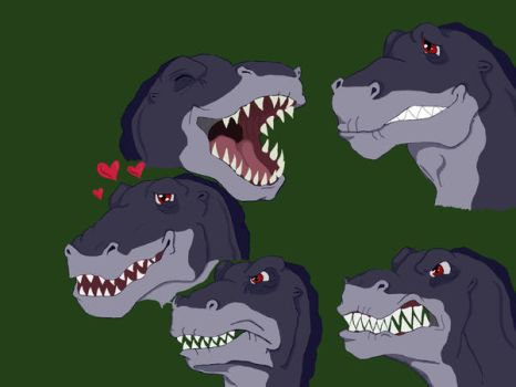 Adult Chomper Expressions by Salitice