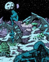 SwampThing panel color by santiagocomics