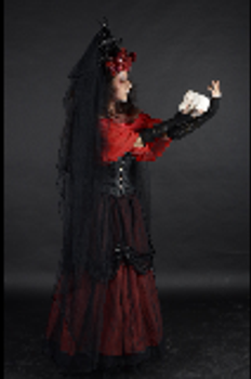 Gothic Lady Black and Red Stock by eLLeRRe