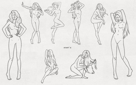 a set of poses 1 by Insant