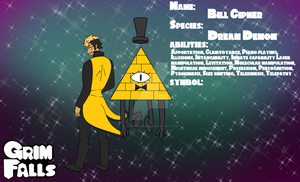 Grim Falls: Bill Cipher Reference by SugarPhonics