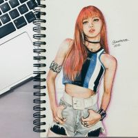 Blackpink Lisa Fanart by pxrpleamethyst