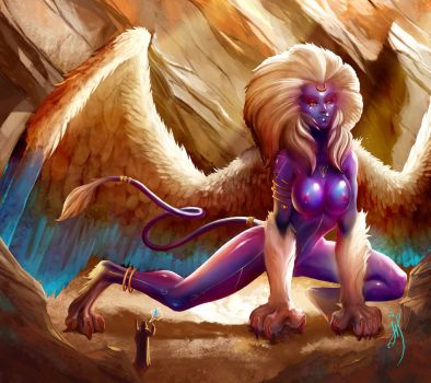 Sphinx: Hu... What was the question, yet ?... by JulienHainault