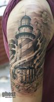 lighthouse tattoo by mil5