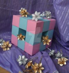 cube and flowers by Damned-at-birtH
