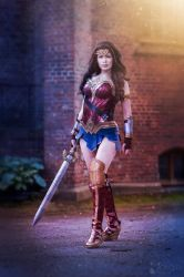Wonder Woman Cosplay - Ready for battle! by TineMarieRiis