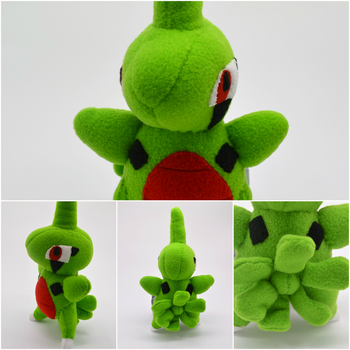 Larvitar Pokemon Plush Commission by Gemlettuce